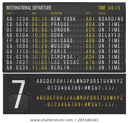 Time to travel banner with airport terminal Stock photo © studioworkstock