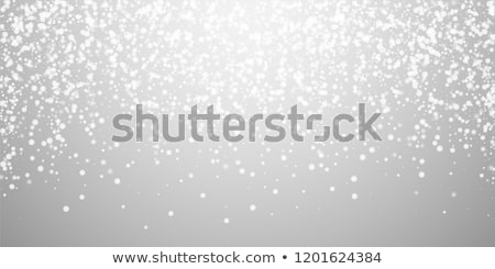 Snow and stars are falling on the background of silver luminous  Stock photo © OlgaYakovenko