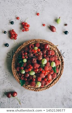 Frutti di bosco crostata frutta dessert torta fresche Foto d'archivio © M-studio
