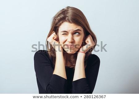 nő · fülek · hall · nem · gonosz · üzlet - stock fotó © is2