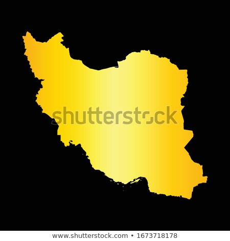 Gold silhouette of Tehran on black background Stock photo © Ray_of_Light