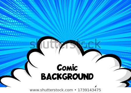 Smoke cloud Explosion. Dust puff cartoon frame vector Stock photo © Andrei_