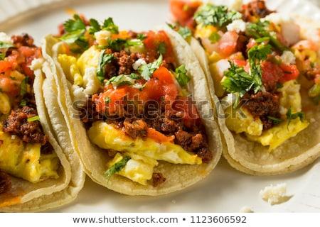 desayuno · soleado · lado · hasta · huevo - foto stock © vertmedia