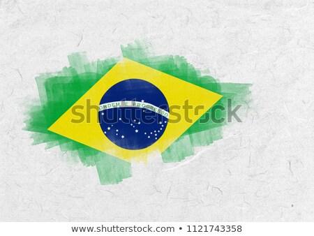 Brasil bandera pergamino Foto stock © wavebreak_media
