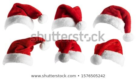 サンタクロース 赤 帽子 孤立した 白 パーティ ストックフォト © sqback