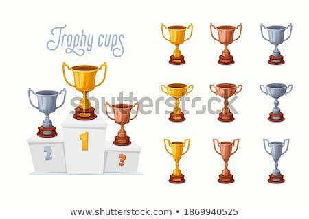 Podium winnaar eerste tweede derde plaats Stockfoto © rogistok