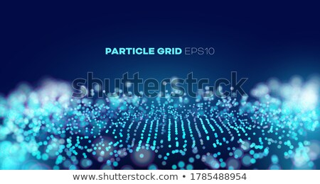 music waves abstract sound background vector explosion of data points tech grid illustration stock photo © pikepicture