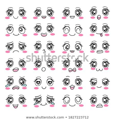 Desenho animado olhos conjunto transparente faces Foto stock © romvo