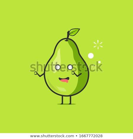 Dronken cartoon peer illustratie naar vruchten Stockfoto © cthoman