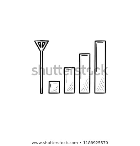Stock fotó: Mobiltelefon · jel · rácsok · kézzel · rajzolt · skicc · firka