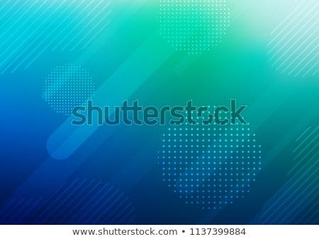 Kék egyenes halftone kör absztrakt háttér Stock fotó © SArts