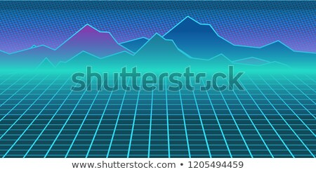 neon · Horizont · Retro · Blitz · Himmel - stock foto © studiostoks
