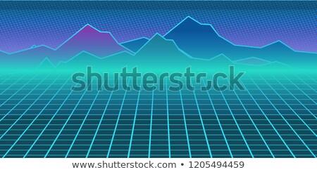 neon · Horizont · Retro · Zukunft · Himmel - stock foto © studiostoks