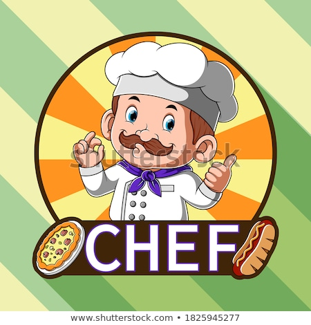 Rajz hotdog szakács tökéletes felirat illusztráció Stock fotó © Krisdog