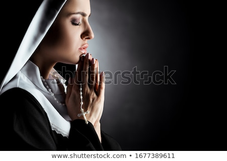 Nun women_emotion Stock photo © toyotoyo