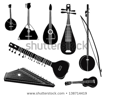 Russian Musical Instruments Vector IIlustration Stock photo © robuart