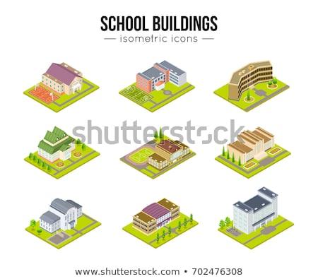 Vettore isometrica educativo edifici set scuola Foto d'archivio © tele52