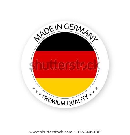 現代 ベクトル ドイツ ラベル 孤立した 白 ストックフォト © kurkalukas