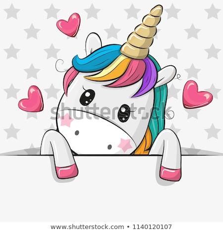 Cartoon Unicorn Love Stock photo © cthoman