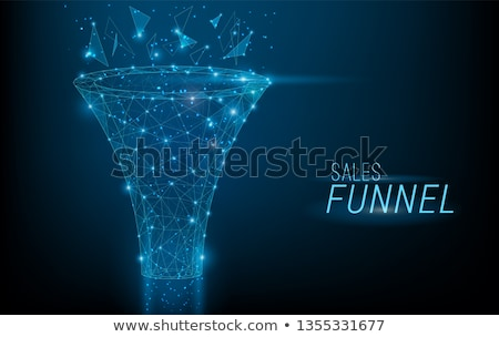 landing page design with concept of marketing funnel stock photo © marysan