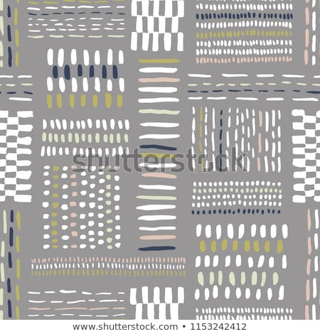 Stock photo: Dark seamless pattern. Hand drawn light grey lines. Abstract striped background