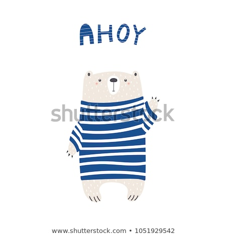 Foto stock: Desenho · animado · marinheiro · ilustração · feliz · homens