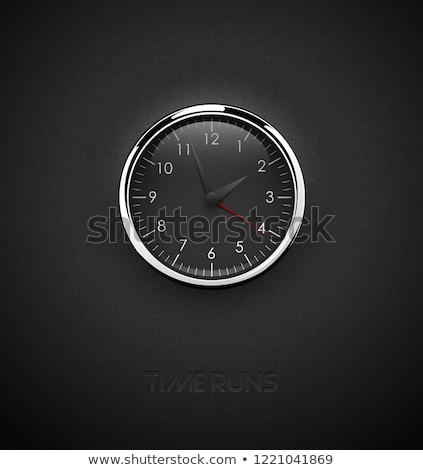 Realista profundo preto relógio Foto stock © Iaroslava