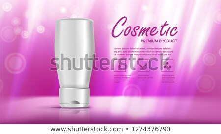 Cosmetic Bottle Template Vector. Beauty Bckground. Jar Blank. Marketing Ads. Facial Care. 3D Mockup  Stock photo © pikepicture