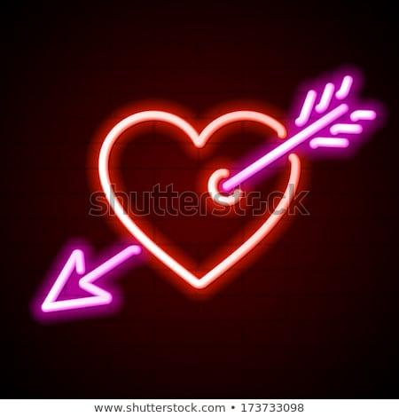 cuore · arrow · moda · promozione · ragazza - foto d'archivio © anna_leni