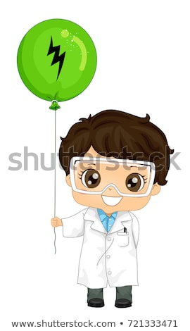 Kid Boy Physicist Static Electricity Balloon Illustration Stock photo © lenm