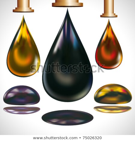 Faucet With Petroleum Or Oil Drop Design Stock photo © hittoon