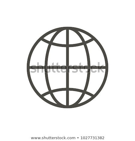 Web icon. Line internet vector. Trendy flat world globe ui sign design. Thin linear network graphic  Stock photo © kyryloff