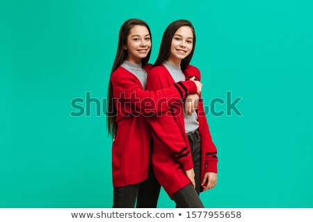 studio · portrait · adolescent · femme · fille - photo stock © monkey_business