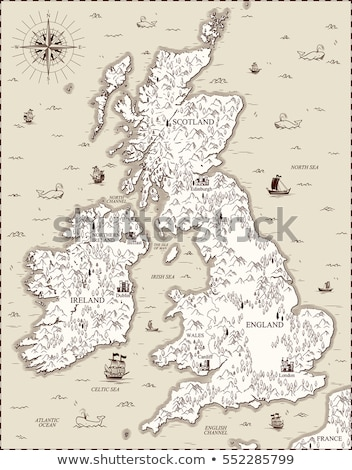 united kingdom stylized icon vector map stock photo © blaskorizov