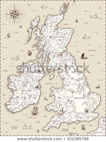 Royaume-Uni stylisé icône vecteur carte signe Photo stock © blaskorizov