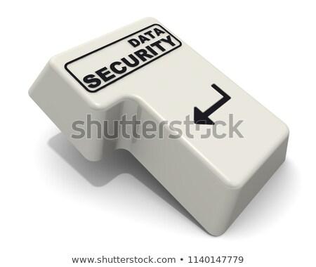ストックフォト: を · セキュリティ · 碑文 · 白 · キーボード · キーパッド