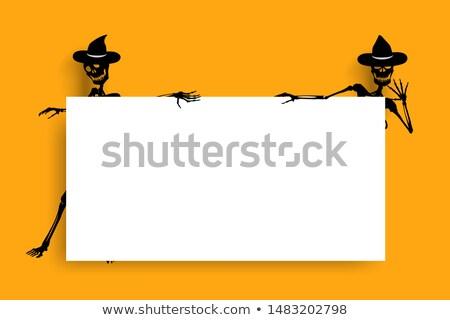 Cartoon оранжевый знак черно белые иллюстрация Сток-фото © bennerdesign