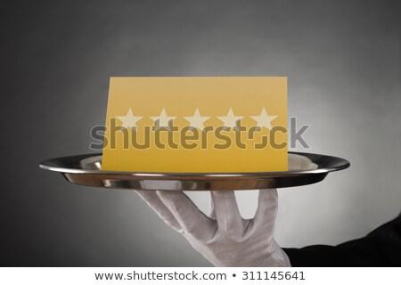 pincér · adag · csillag · közelkép · tányér · étterem - stock fotó © andreypopov