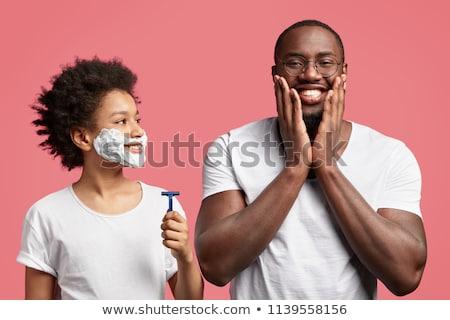 férfi · szakáll · borotva · penge · fürdőszoba · szépség - stock fotó © massonforstock