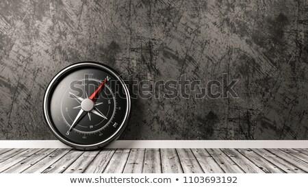 компас комнату копия пространства металлический красный магнитный Сток-фото © make