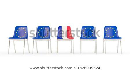 стульев флаг Евросоюз Франция изолированный Сток-фото © MikhailMishchenko