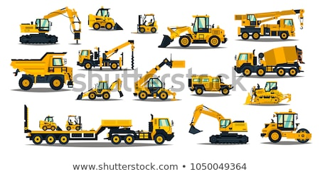 construction machinery flat concept icons stock photo © netkov1