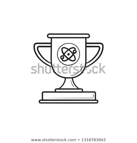 video game trophy cup hand drawn outline doodle icon stock photo © rastudio
