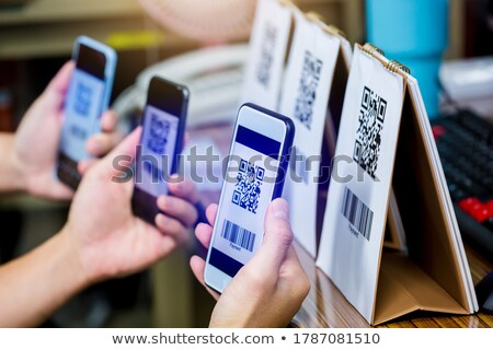 QR Bar Code on Smartphone Screen, Phone Monitor Stock photo © robuart