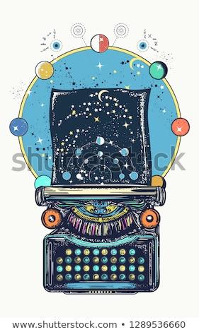 Word Poetry On Retro Typewriter Stock photo © ivelin