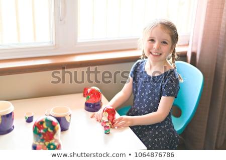 ребенка девушки играть Жилье кукол Сток-фото © Lopolo
