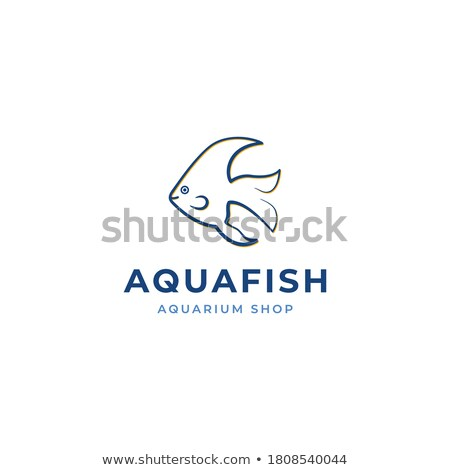 цвета Vintage аквариум магазин эмблема рыбы Сток-фото © netkov1