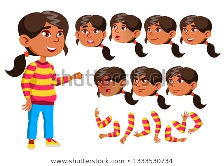 Arab moslim meisje kind kid teen Stockfoto © pikepicture