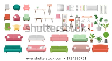 armchair vector home furniture isolated flat cartoon illustration stock photo © pikepicture