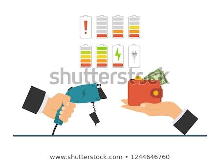 Voertuig zakenlieden betalen betaling technologie moderne Stockfoto © RAStudio